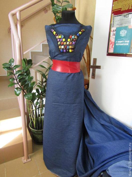 Шитье ручной работы. Ярмарка Мастеров - ручная работа. Купить Ткань джинсовая гладкокрашенная арт.60 ДЖ-1 синий(Китай). Handmade.