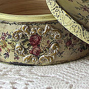 Для дома и интерьера handmade. Livemaster - original item Vintage round box