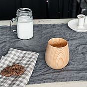 Посуда handmade. Livemaster - original item Cedar Wood Wooden Glass for Drinks C48. Handmade.