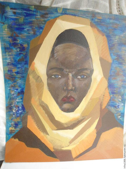 Этно ручной работы. Ярмарка Мастеров - ручная работа. Купить Картина Бедуинка. Handmade. Морская волна, Картины и панно