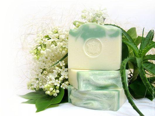 """Мыло ручной работы. Ярмарка Мастеров - ручная работа. Купить """"Алоэ и белые цветы"""" натуральное мыло. Handmade. Натуральное мыло"""