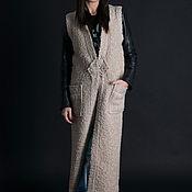 Одежда handmade. Livemaster - original item Beige sleeveless vest - VE0020WB. Handmade.