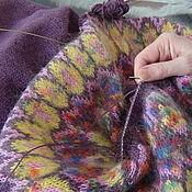 Одежда ручной работы. Ярмарка Мастеров - ручная работа Платье Lopapeysa Violet Dream. Handmade.