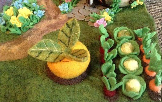 Кукольный театр ручной работы. Ярмарка Мастеров - ручная работа. Купить декорация полянка для кукольного театра. Handmade. Зеленый