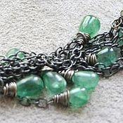 Украшения handmade. Livemaster - original item Emerald natural. Esmeralda necklace (925 silver, blackening). Handmade.