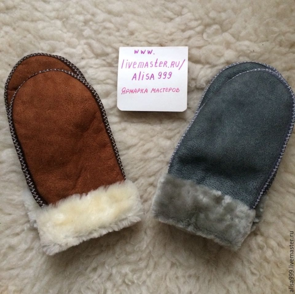 Men's large mittens made of sheepskin, Mittens, Moscow,  Фото №1