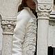 Верхняя одежда ручной работы. Ярмарка Мастеров - ручная работа. Купить Куртка-полупальто зимнее 42-44. Handmade. Кремовый