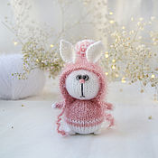 Куклы и игрушки handmade. Livemaster - original item Bunny in a beanie with strings. Handmade.