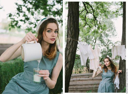 """Платья ручной работы. Ярмарка Мастеров - ручная работа. Купить Платье """"Drink milk"""".. Handmade. Тёмно-зелёный, романтический стиль"""