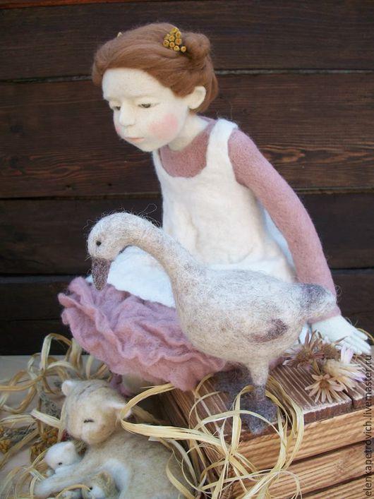 Коллекционные куклы ручной работы. Ярмарка Мастеров - ручная работа. Купить - А у нас сегодня кошка родила вчера котят.... Handmade.