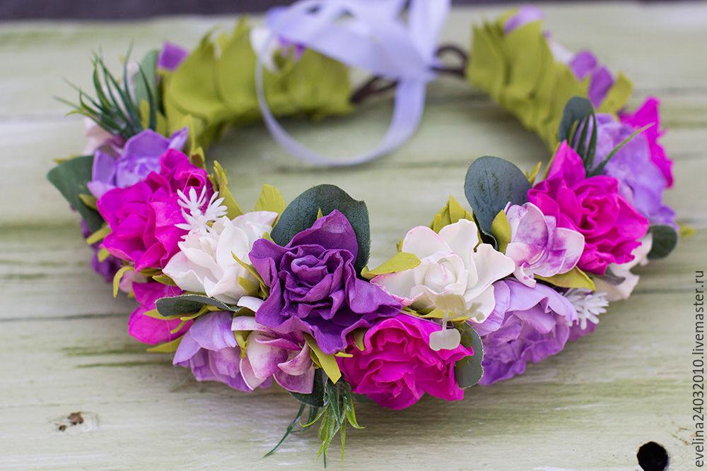 Цветы алматы, венки из цветов на голову купить спб