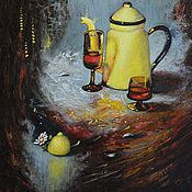 Картины и панно ручной работы. Ярмарка Мастеров - ручная работа С лимончиком. Handmade.