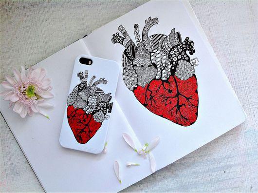 Для телефонов ручной работы. Ярмарка Мастеров - ручная работа. Купить Чехол для iPhone 5 / iPhone 6 с авторским принтом на заказ. Handmade.