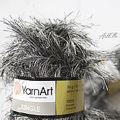 Материалы для творчества ручной работы. Ярмарка Мастеров - ручная работа Jungle YarnArt, пряжа травка, мех, искусственный мех. Handmade.