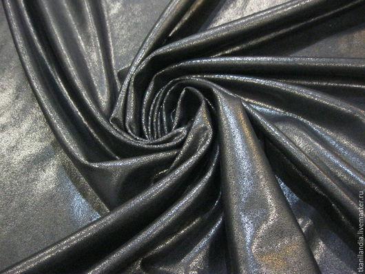 Шитье ручной работы. Ярмарка Мастеров - ручная работа. Купить Итальянская искусственная кожа с эластаном.. Handmade. Черный, итальянская кожа