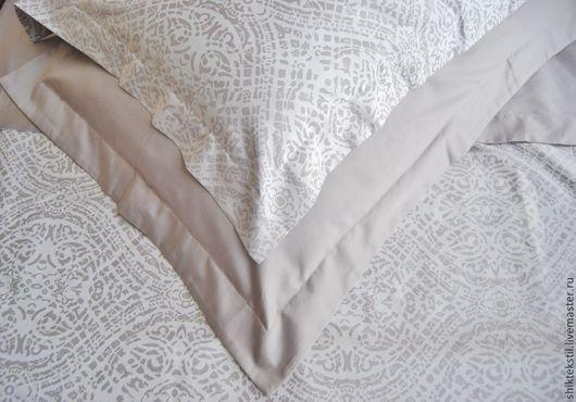 Текстиль, ковры ручной работы. Ярмарка Мастеров - ручная работа. Купить Комплект постельного белья из серого сатина. Handmade. Серый
