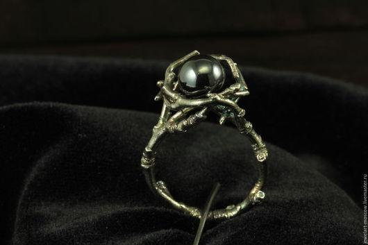 Кольца ручной работы. Ярмарка Мастеров - ручная работа. Купить Кольцо дерево / кольцо с гематитом / серебряное / кольцо / jewelart. Handmade.