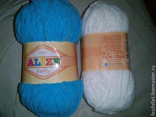 Вязание ручной работы. Ярмарка Мастеров - ручная работа. Купить Пряжа Alize Softy (цвета в ассортименте). Handmade. Разноцветный, микрополиэстер