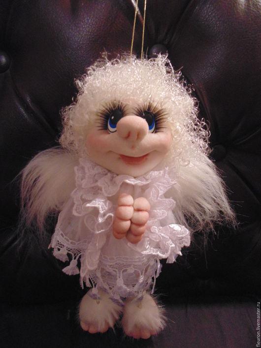 Коллекционные куклы ручной работы. Ярмарка Мастеров - ручная работа. Купить Ангелочек. Handmade. Белый, интерьерная кукла, ангел-хранитель