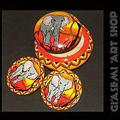 """Украшения ручной работы. Ярмарка Мастеров - ручная работа Комплект """"African elephant"""". Handmade."""