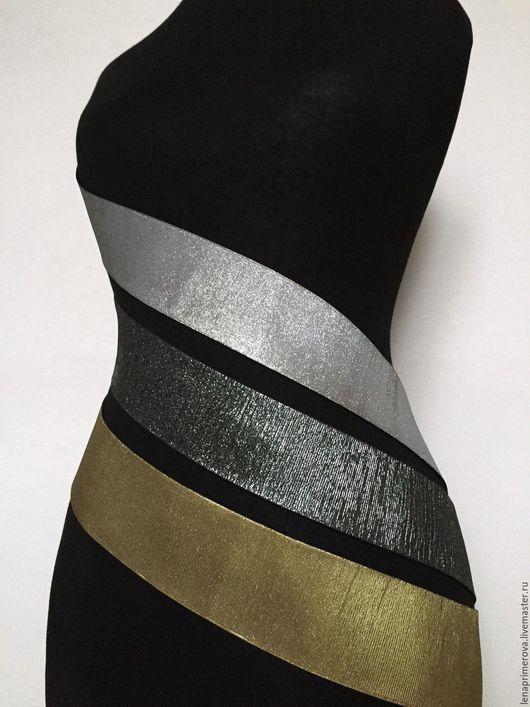 Пояса, ремни ручной работы. Ярмарка Мастеров - ручная работа. Купить пояса разных цветов - серебристый, темно-серебристый, золотистый. Handmade.