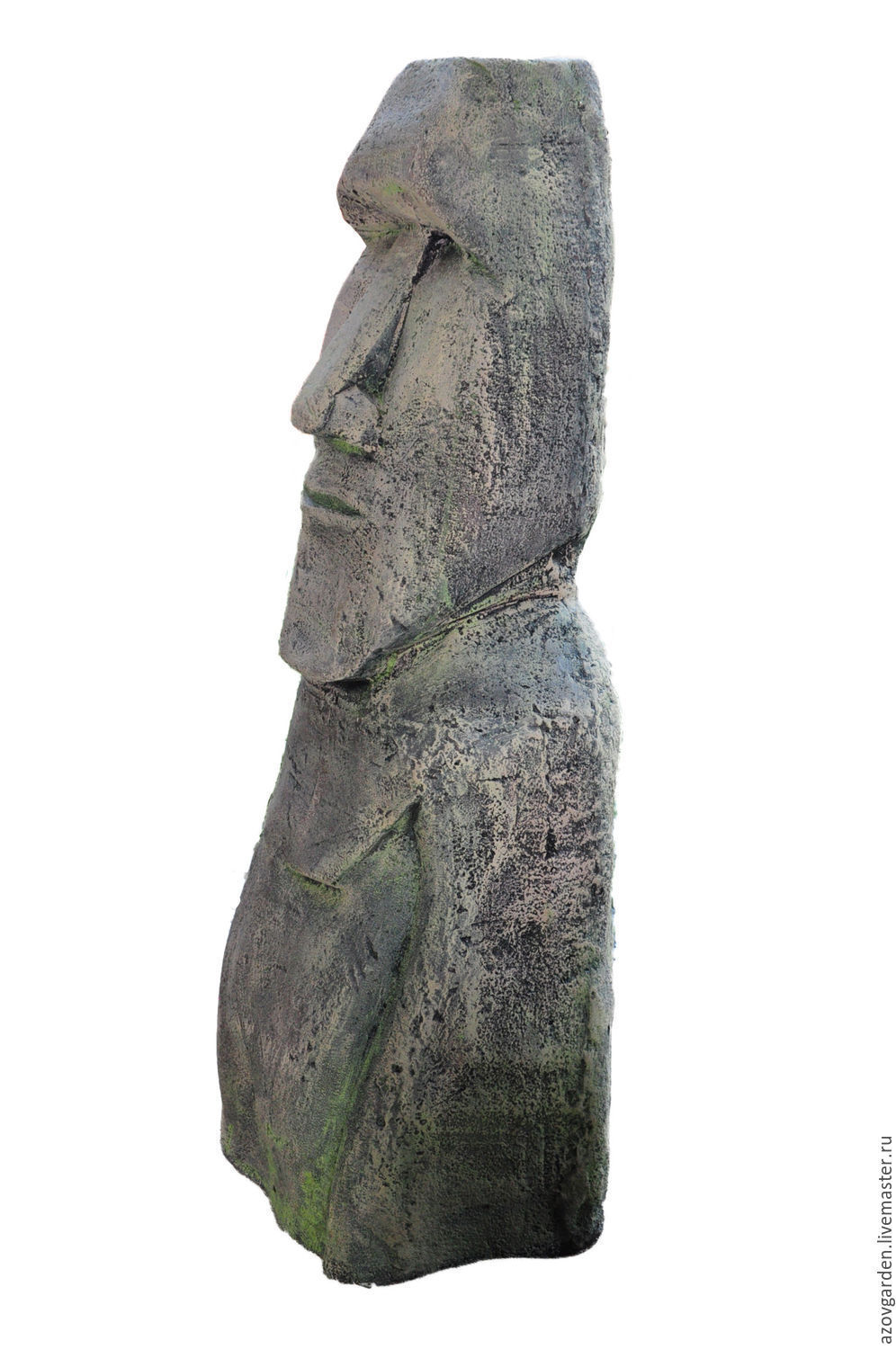 moai statue from easter island out of concrete for garden. Black Bedroom Furniture Sets. Home Design Ideas