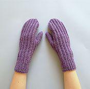 Аксессуары handmade. Livemaster - original item Knitted mittens from the wool with Alpaca