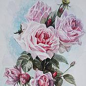 """Картины и панно ручной работы. Ярмарка Мастеров - ручная работа акварель """"Розы"""" (2). Handmade."""