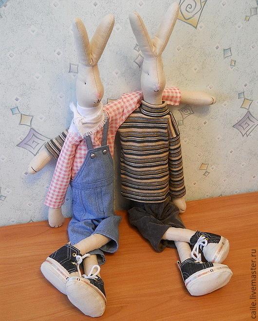 Куклы Тильды ручной работы. Ярмарка Мастеров - ручная работа. Купить Кролики Maileg Дэн и Крис. Не Тильда. Handmade.