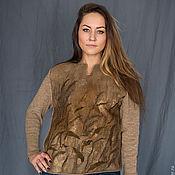 "Одежда ручной работы. Ярмарка Мастеров - ручная работа ""КАМЫШ"" джемпер валяно-вязанный. Handmade."