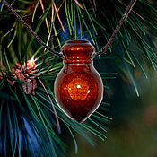 Украшения handmade. Livemaster - original item Cedar wood aroma bottle for essential oils WP39. Handmade.