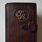 Канцелярские товары ручной работы. Ярмарка Мастеров - ручная работа кожаная обложка для книги безразмерная. Handmade.