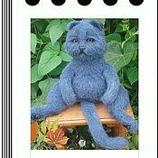 Куклы и игрушки ручной работы. Ярмарка Мастеров - ручная работа Мастер-класс по вязанию спицами кота Семёна. Handmade.