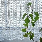 "Curtains1 handmade. Livemaster - original item Curtains for kitchen ""Lace hemstitch"". Handmade."