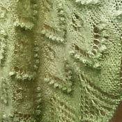 """Аксессуары ручной работы. Ярмарка Мастеров - ручная работа Шаль """"Зеленый горошек"""". Handmade."""