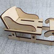 Материалы для творчества handmade. Livemaster - original item Sleigh with back 10 cm.. Handmade.