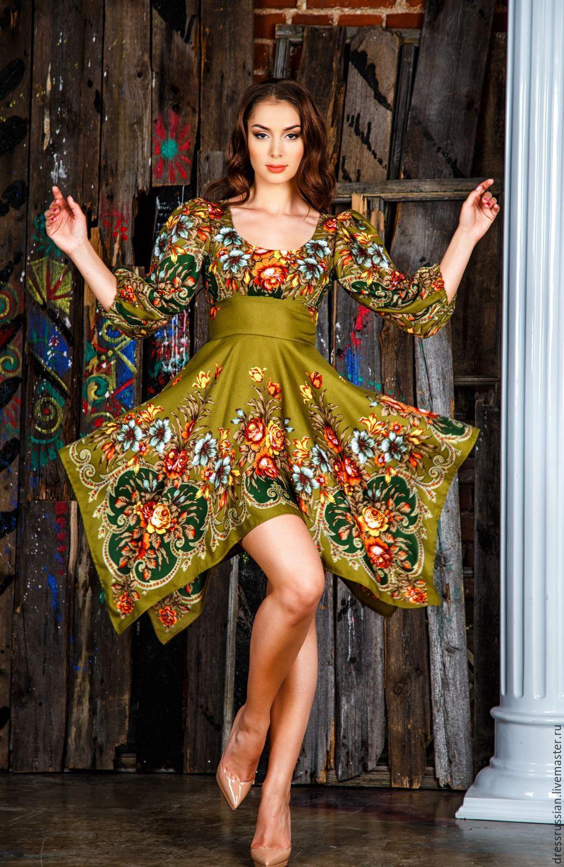 Платье в Русском стиле – купить в интернет-магазине на Ярмарке ... 40298179db9