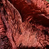 Аксессуары handmade. Livemaster - original item scarf stole silk red brown gifts for women. Handmade.