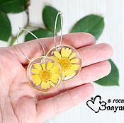 Украшения handmade. Livemaster - original item Earrings Mini Chrysanthemums. Handmade.