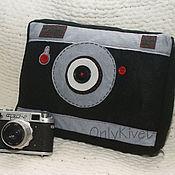 Для дома и интерьера ручной работы. Ярмарка Мастеров - ручная работа подушка-фотоаппарат. Handmade.
