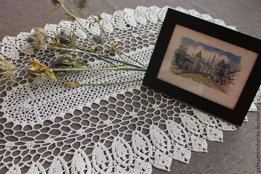 Текстиль, ковры ручной работы. Ярмарка Мастеров - ручная работа. Купить Салфетка № 173. Handmade. Белый цвет