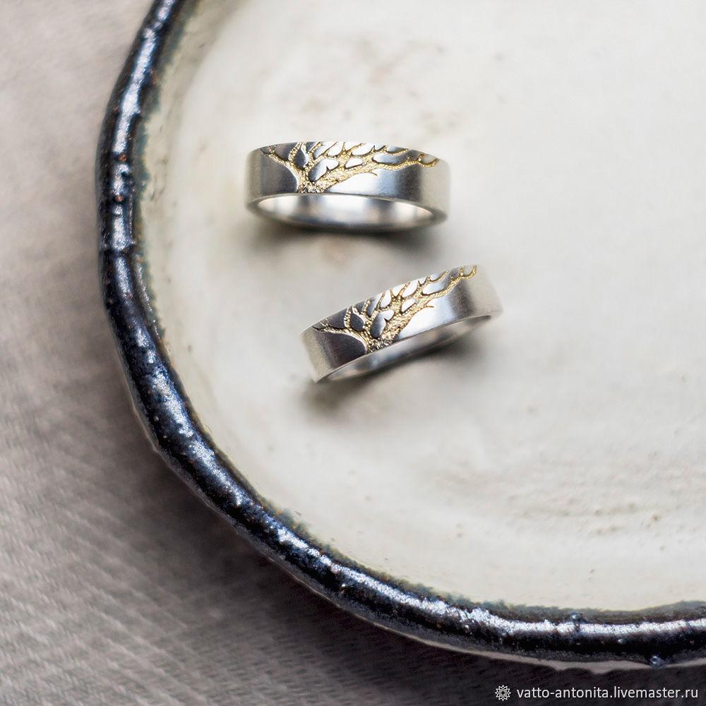 Свадебные украшения ручной работы. Ярмарка Мастеров - ручная работа. Купить  Золотое Древо обручальные кольца ... 745aa1f2b13