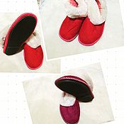Обувь ручной работы. Ярмарка Мастеров - ручная работа Чуни из овчины на плотной подошве. Handmade.