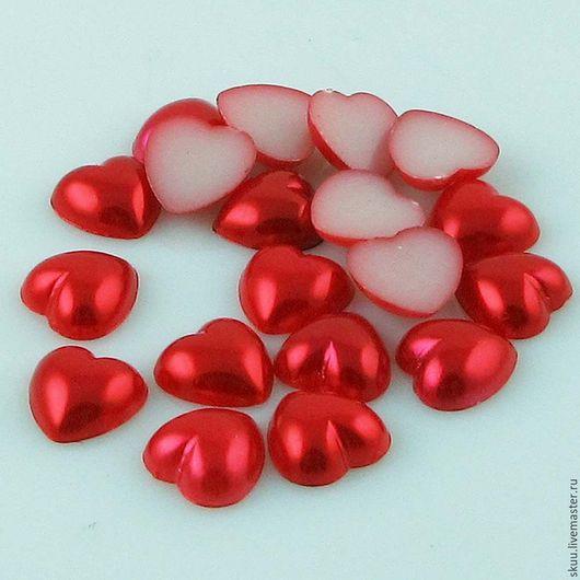 Открытки и скрапбукинг ручной работы. Ярмарка Мастеров - ручная работа. Купить 7 цветов Сердечки гладкие 10 мм. Handmade.