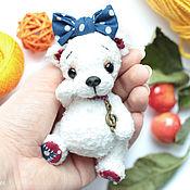 Куклы и игрушки ручной работы. Ярмарка Мастеров - ручная работа белый мишка тедди Буся. Handmade.