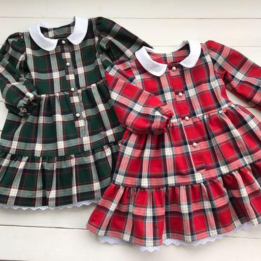 """Одежда для девочек, ручной работы. Ярмарка Мастеров - ручная работа. Купить Платье для принцессы """"Шотландка"""". Handmade. Платье, шотландка"""