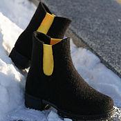 Обувь ручной работы handmade. Livemaster - original item Felted boots Chelsea King`s Road. Handmade.