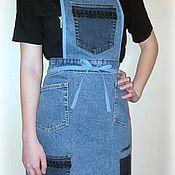 Для дома и интерьера handmade. Livemaster - original item Denim apron for working in the garden. Handmade.