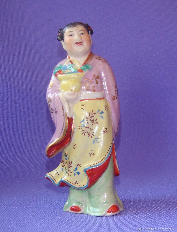 Old China 1950's LAN Caihe porcelain Figurine, Vintage interior, Saratov,  Фото №1