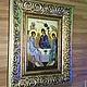 Иконы ручной работы. Заказать Икона Святая Троица. павлова ира (rostov76). Ярмарка Мастеров. Икона в подарок, подарок верующему